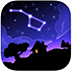Night Sky View and Constellation