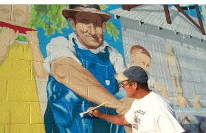 Tim O'Connor, Smith's Ranch mural, 29 Palms, CA