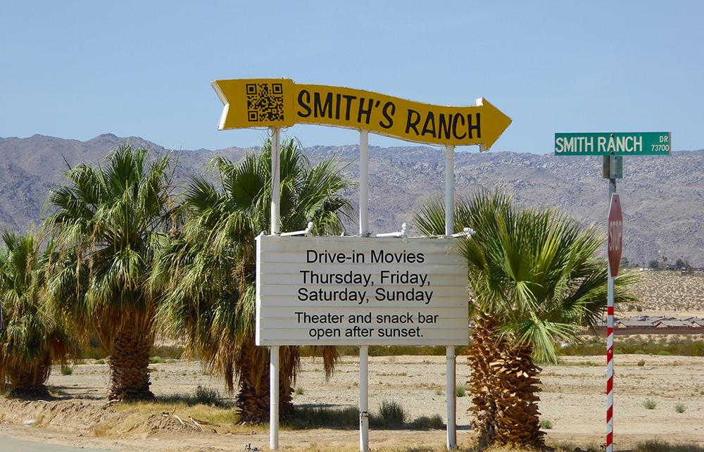 Smith's Ranch Drive-In Movies in 29 Palms, California