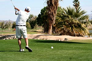 Golfer in 29 Palms