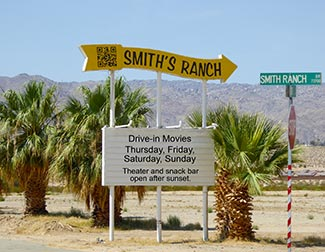 Smith's Ranch Drive-In Movie Theater in 29 Palms, California