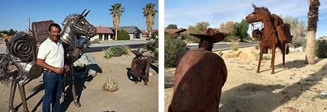 Ricardo Breceda Sculptures near Joshua Tree