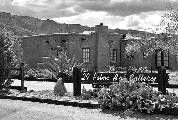 29 Palms Art Gallery, historic adobe, 29 Palms, California