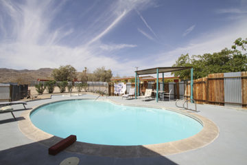 Harmony Motel pool, 29 Palms, California