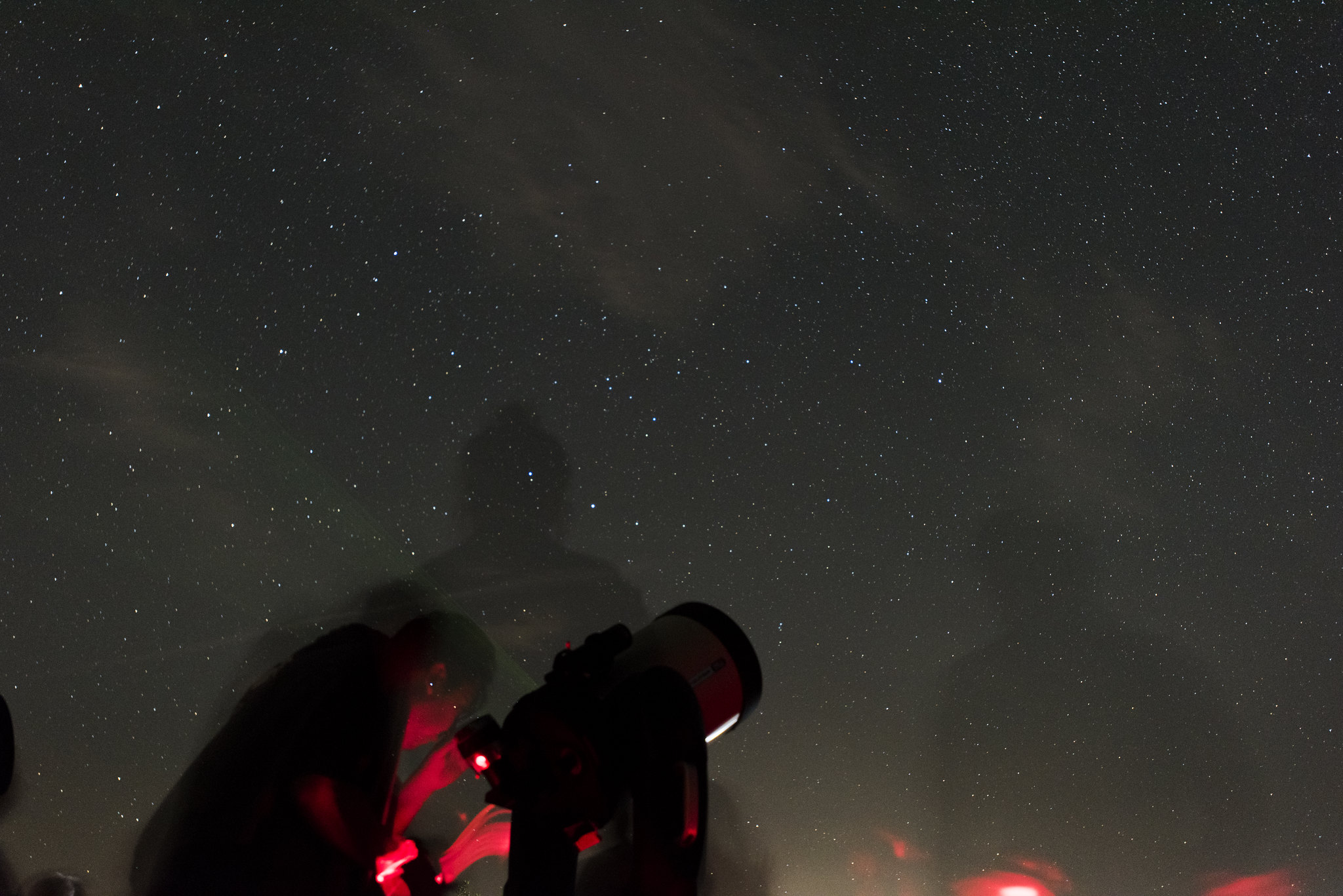 Stargazing in Twentynine Palms, California.