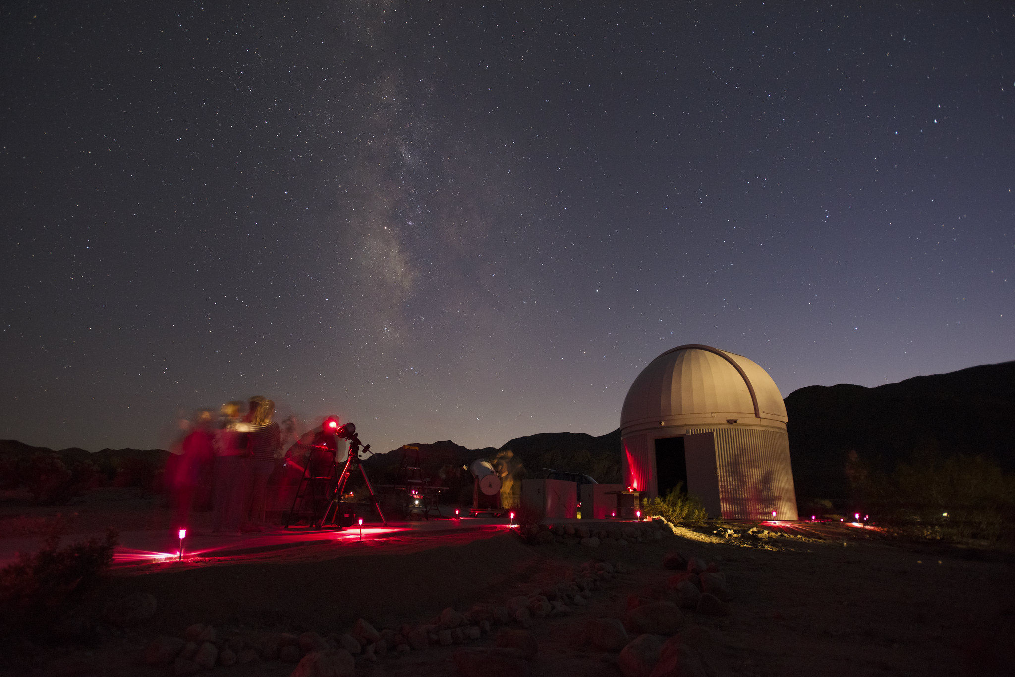 Stargazing at Sky's The Limit Observatory and Nature Center, 29 Palms, California.