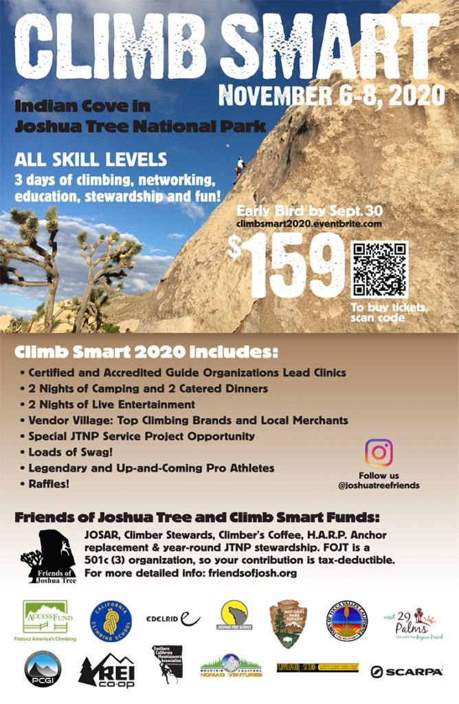 Climb Smart 2020 Schedule of Events