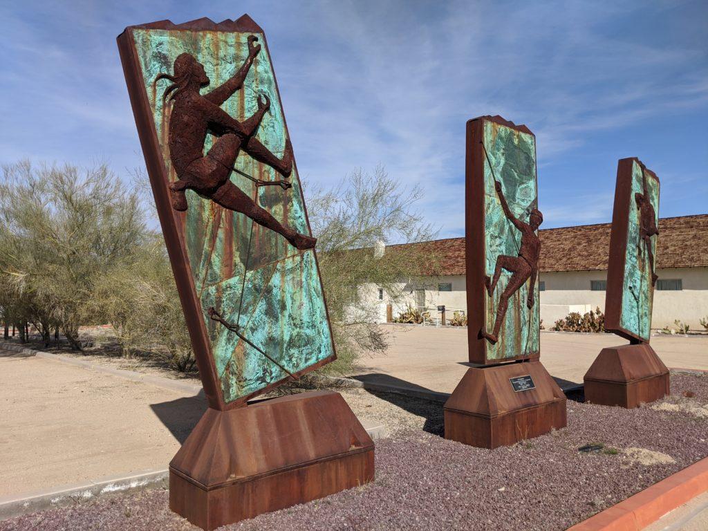Sky Climbers, Steve Rieman Sculpture, Old Schoolhouse Museum, 29 Palms, California