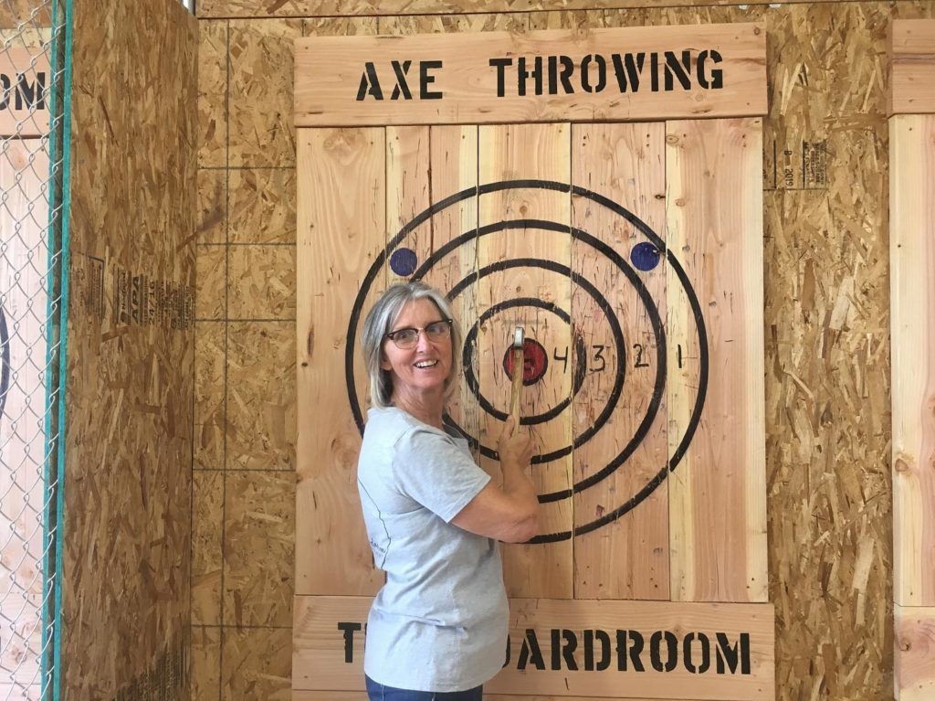 Axe Throwing at The Boardroom, 29 Palms, California