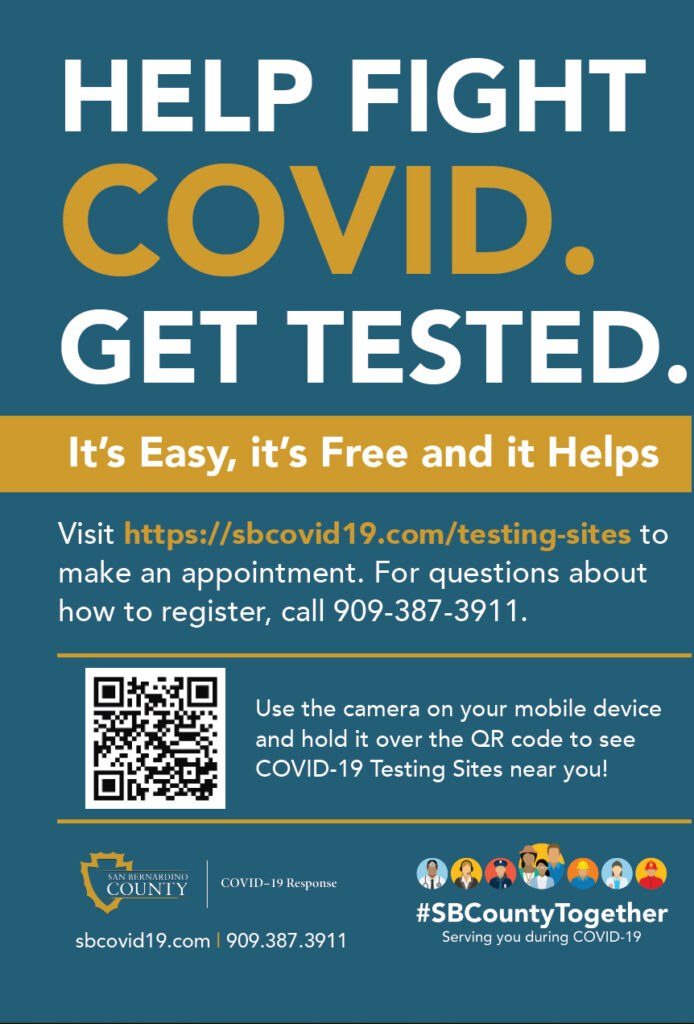 San Bernardino County COVID Testing Sites
